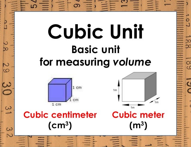 cubic unit basic unit for measuring volume cubic centimeter cm3