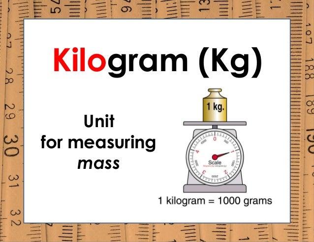 Kilogram (Kg) Unit for measuring mass