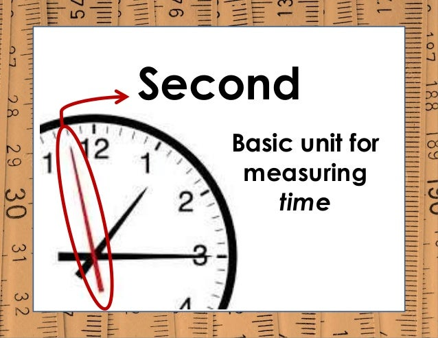 Second Basic unit for measuring time