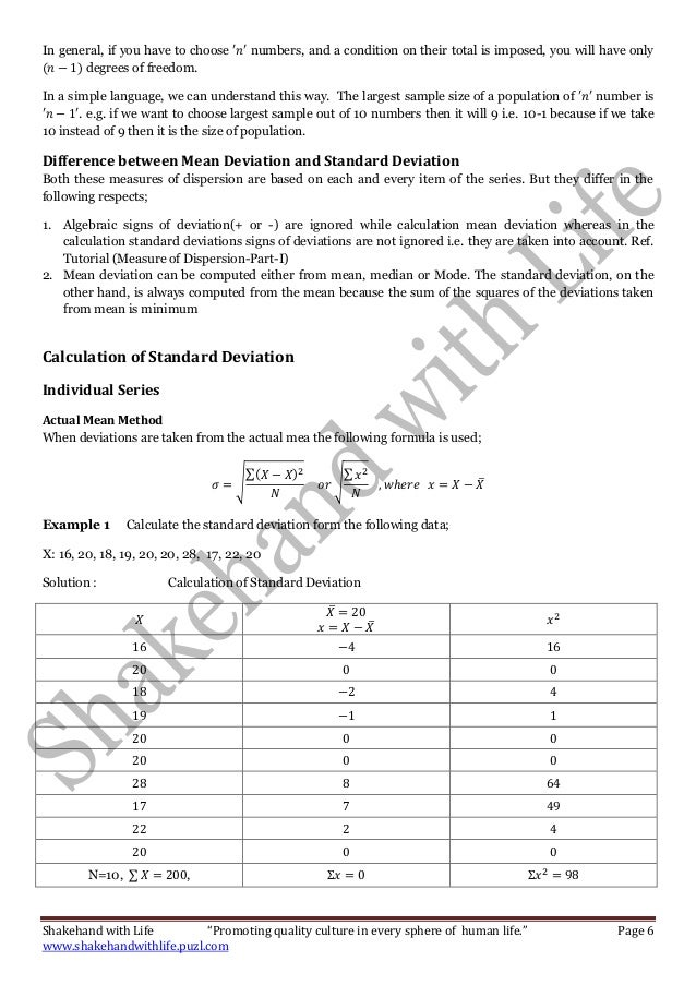 Measure of dispersion part ii standard deviation variance coeffic 6 ccuart Choice Image