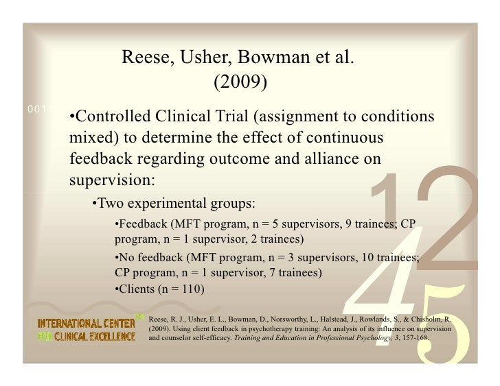 Reese, Usher, Bowman et al.                          (2009) 0011 0010 1010 1101 0001 0100 1011       •Controlled Clinical ...
