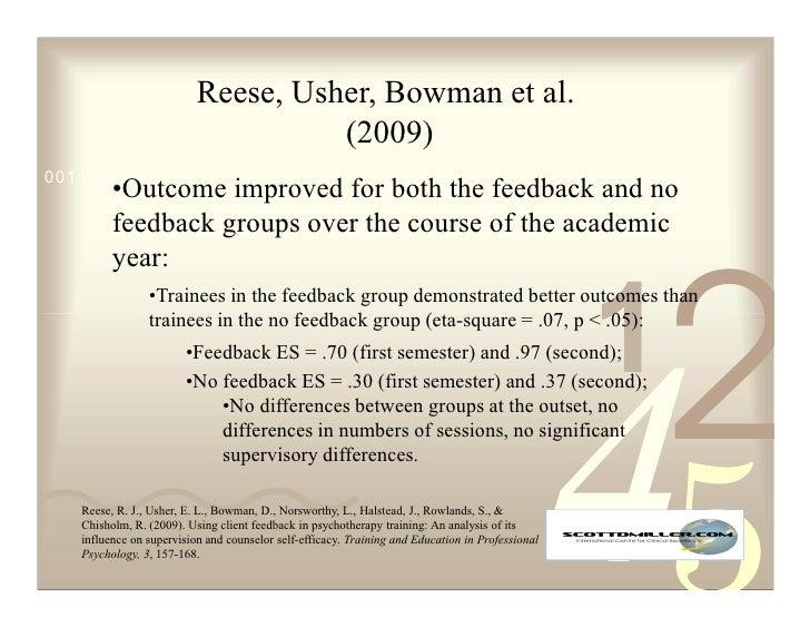 Reese, Usher, Bowman et al.                                     (2009) 0011 0010 1010 1101 0001 0100 1011          •Outcom...
