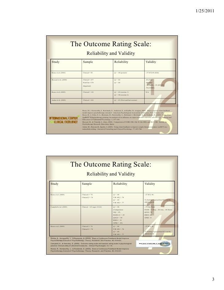 Measures and Feedback January 2011 Slide 3