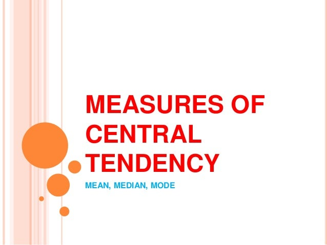 measures of central tendency mean median mode pdf
