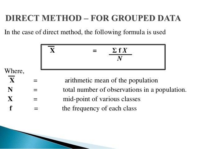 Worksheet Central Tendency Formula measures of central tendency 13