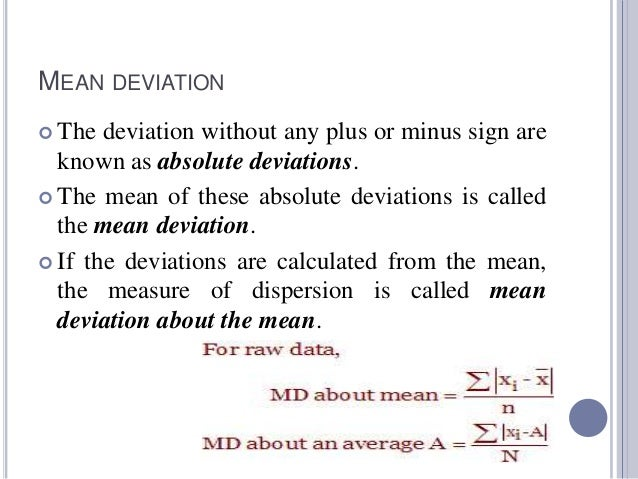 Measures of central tendency and dispersion