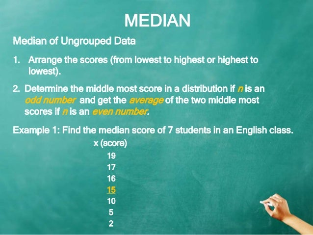 Mean median mode measures of central tendency median 1 ccuart Gallery
