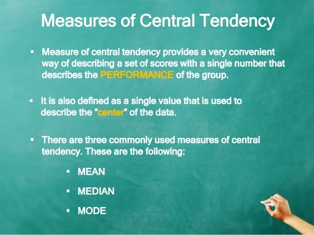 application of central tendency