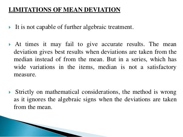 The standard deviation measures the absolute variation of a  distribution. The greater the amount of variation, the greate...
