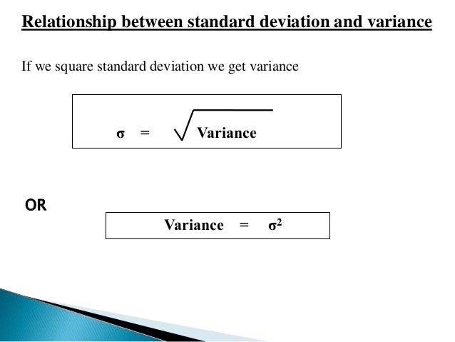 relationship of standard deviation and variance