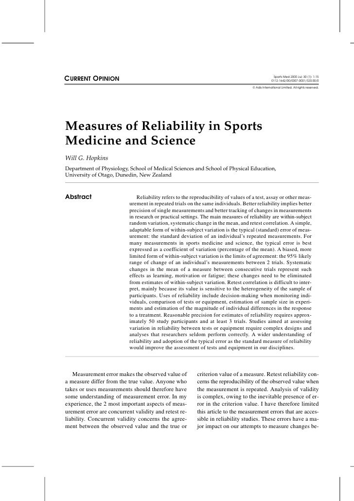 CURRENT OPINION                                                                                     Sports Med 2000 Jul; 3...