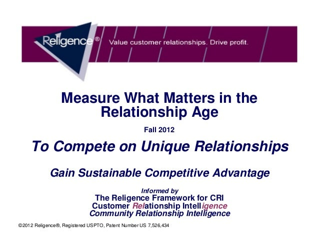 Measure What Matters in the                     Relationship Age                                                   Fall 20...