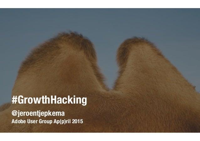 @jeroentjepkema Adobe User Group Ap(p)ril 2015 #GrowthHacking