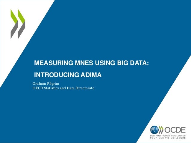 MEASURING MNES USING BIG DATA: INTRODUCING ADIMA Graham Pilgrim OECD Statistics and Data Directorate