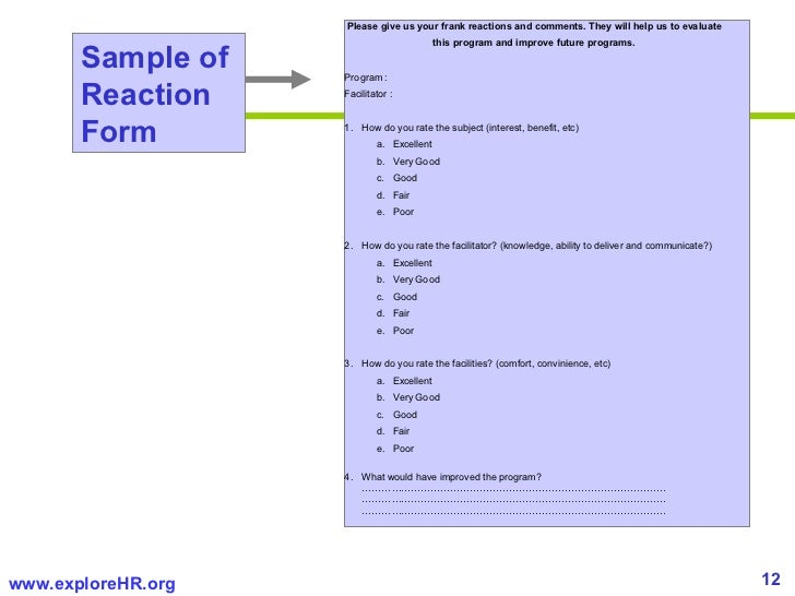 Questionnaire Templates Word Template Lab. Measuring Roi Of Training