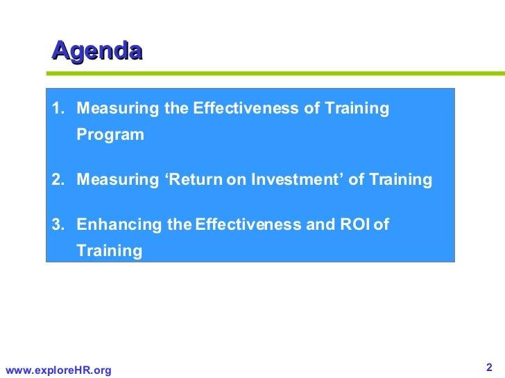 Measuring ROI of Training   Slide 2