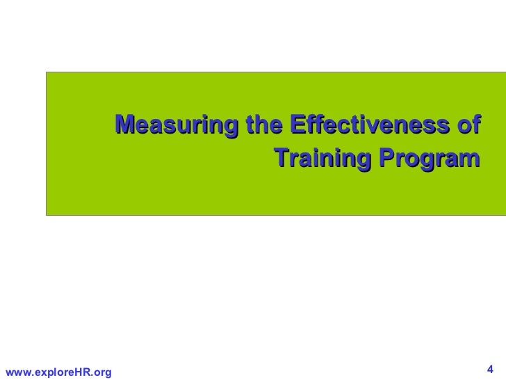 the effectiveness of training program towards To achieve the objectives of this study, the researchers had constructed training  program to modify students' types of goal orientation also, the.