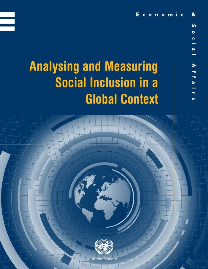 Analysing and Measuring     Social Inclusion in a           Global Context