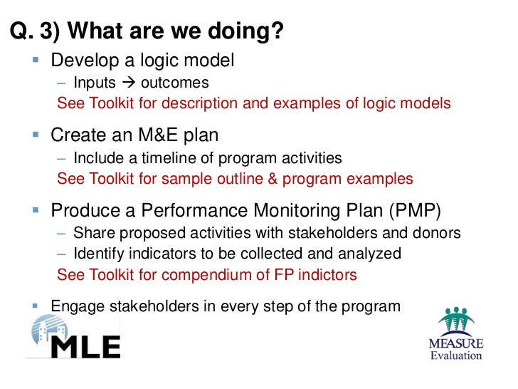Two Examples Of Program Planning Monitoring And Evaluation