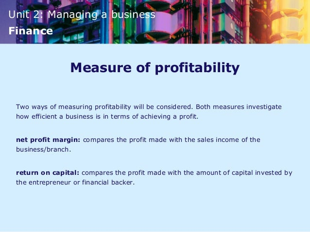 how is profit measured The three main financial statements you can use at your small business are the income statement, balance sheet, and cash flow statement the income statement measures the profitability of your.
