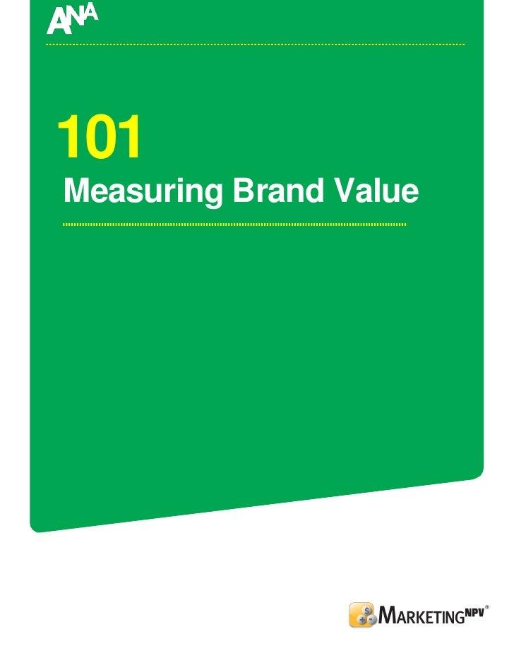 101 Measuring Brand Value