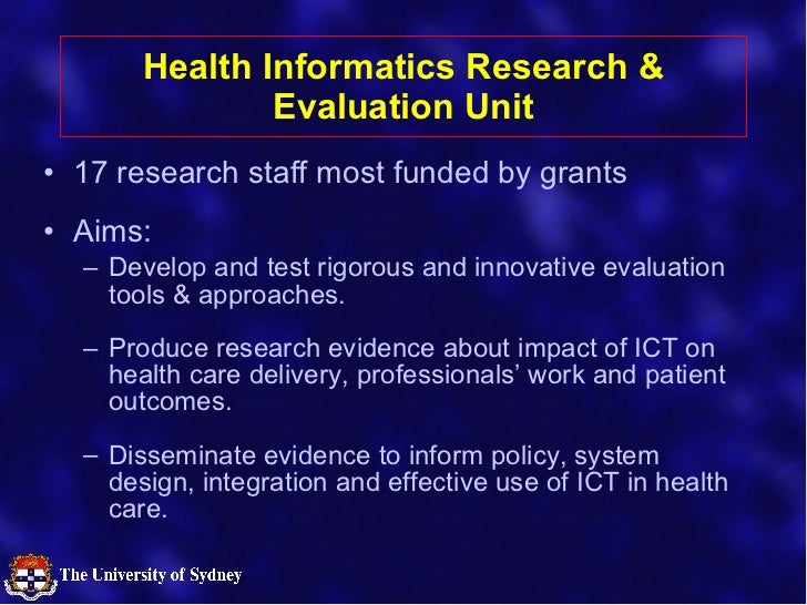 Measuring the Effectiveness of eHealth Initiatives in Hospitals Slide 2