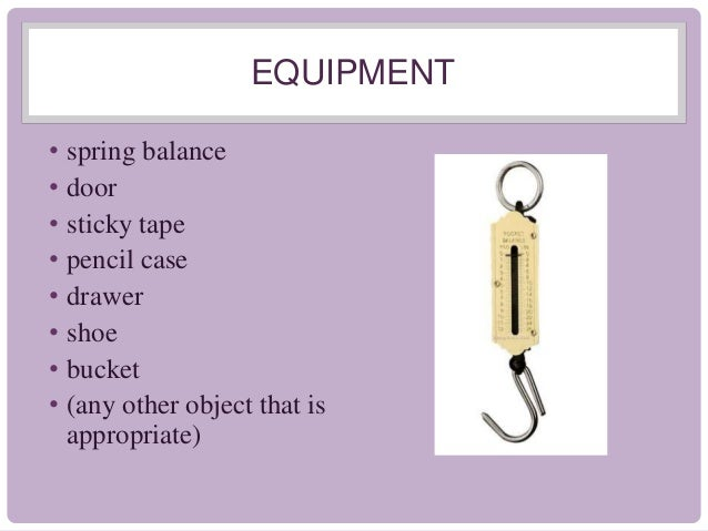 Measuring forces prac