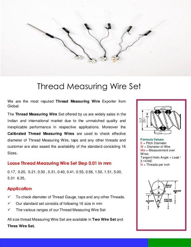 Measuring gauge price list 2016 12 thread measuring wire greentooth Gallery