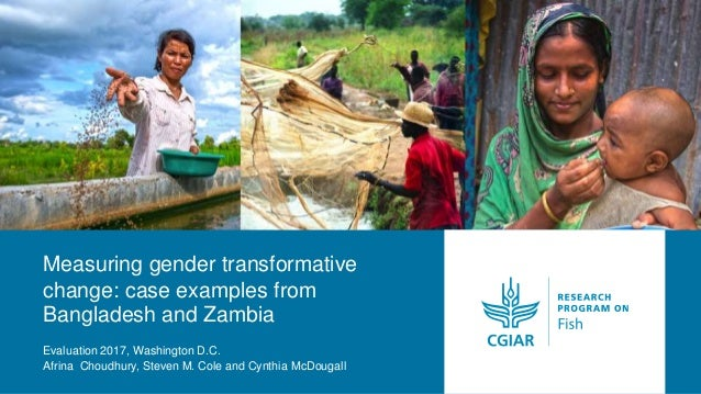 Measuring gender transformative change: case examples from Bangladesh and Zambia Evaluation 2017, Washington D.C. Afrina C...