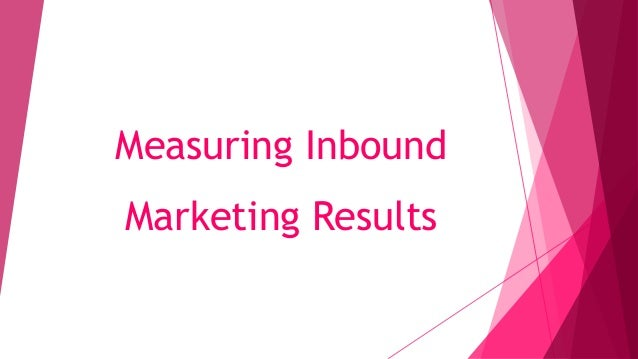 Measuring Inbound Marketing Results