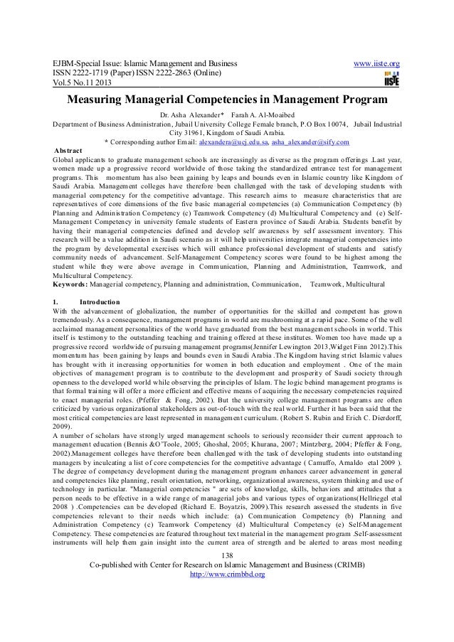 EJBM-Special Issue: Islamic Management and BusinessISSN 2222-1719 (Paper) ISSN 2222Vol.5 No.11 2013Co-published with Cente...