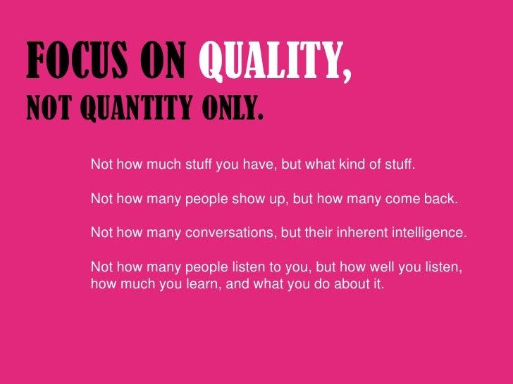 quality measurements quantity