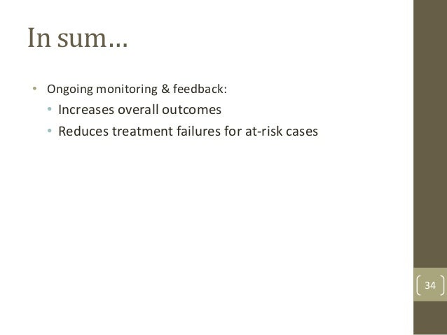 References  •  Lambert, M. J. (2010). Prevention of treatment failure: The use of measuring, monitoring, & feedback in cli...