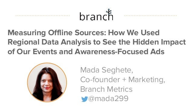 #datapointlive Measuring Offline Sources: How We Used Regional Data Analysis to See the Hidden Impact of Our Events and Aw...
