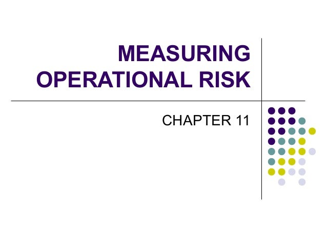MEASURING OPERATIONAL RISK CHAPTER 11
