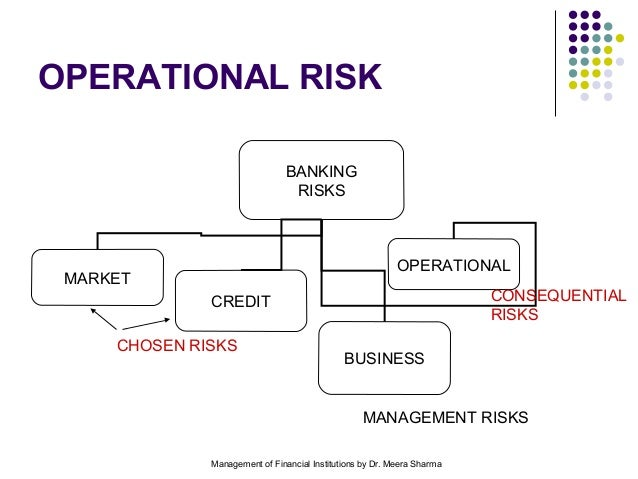 importance of operational risk in banks Overview taking and managing risk is fundamental to the business of banking managing risk effectively is critical to ensuring compliance with consumer protection laws and regulations and has become even more important as new technologies, product innovation, and the size and speed of financial transactions have changed the nature of financial services markets.