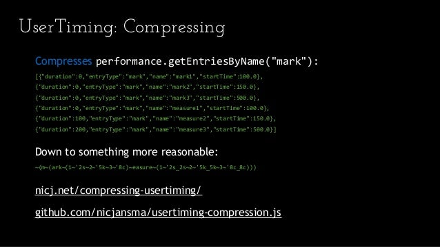 Measuring Real User Performance in the Browser