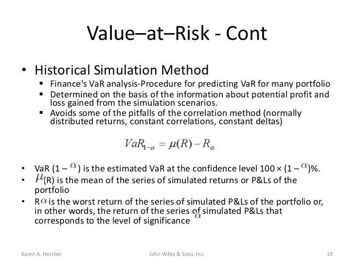 Measuring risk essentials of financial risk management