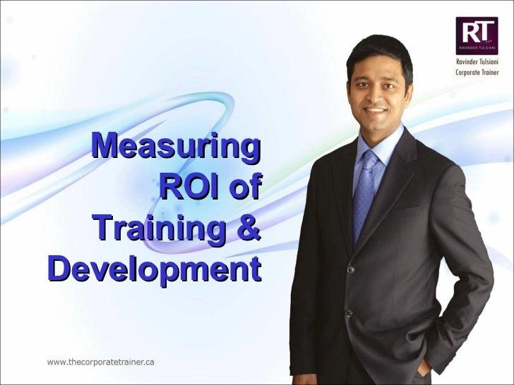 Measuring ROI of Training & Development