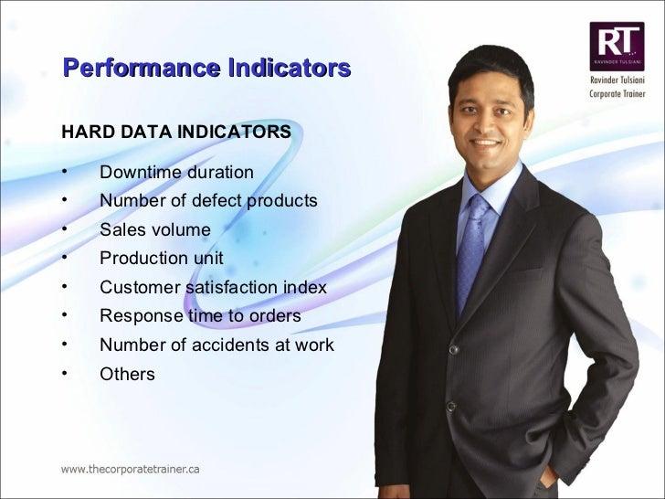 Performance Indicators <ul><li>HARD DATA INDICATORS </li></ul><ul><li>Downtime duration </li></ul><ul><li>Number of defect...