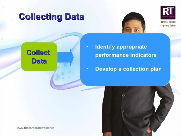 Collecting Data <ul><li>Identify appropriate performance indicators  </li></ul><ul><li>Develop a collection plan </li></ul...