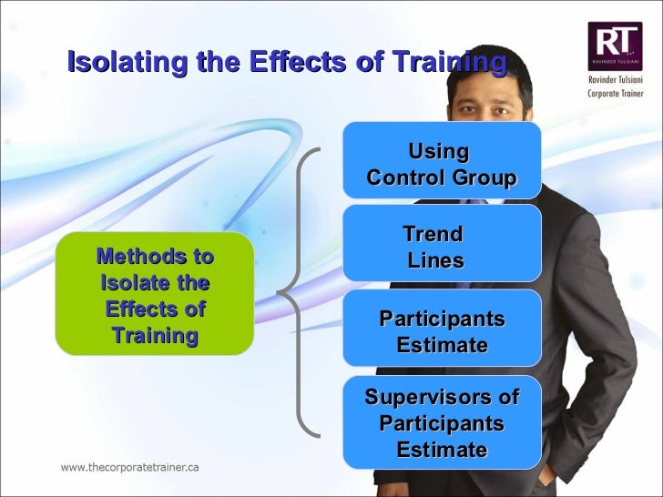 Isolating the Effects of Training  Methods to Isolate the Effects of Training Using  Control Group Trend  Lines Participan...