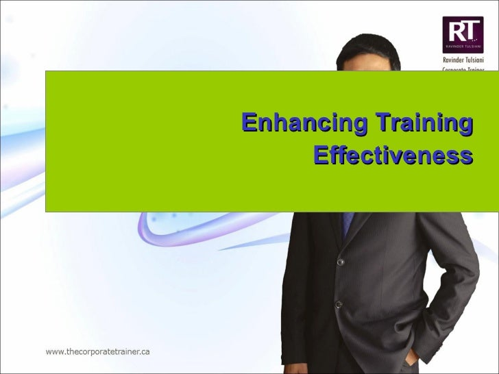 Enhancing Training Effectiveness