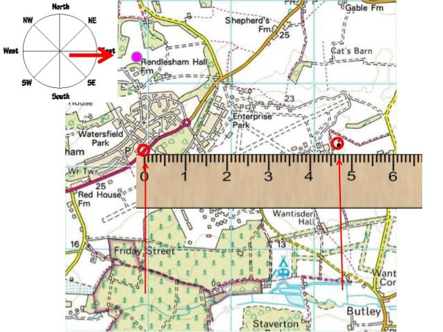 Measuring scale on OS Maps
