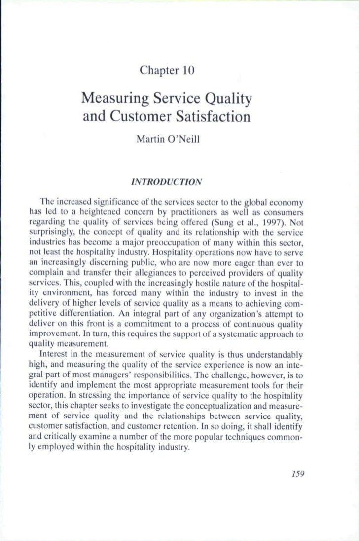 Chapter 10              Measuring Service Quality              and Customer Satisfaction                              Mart...