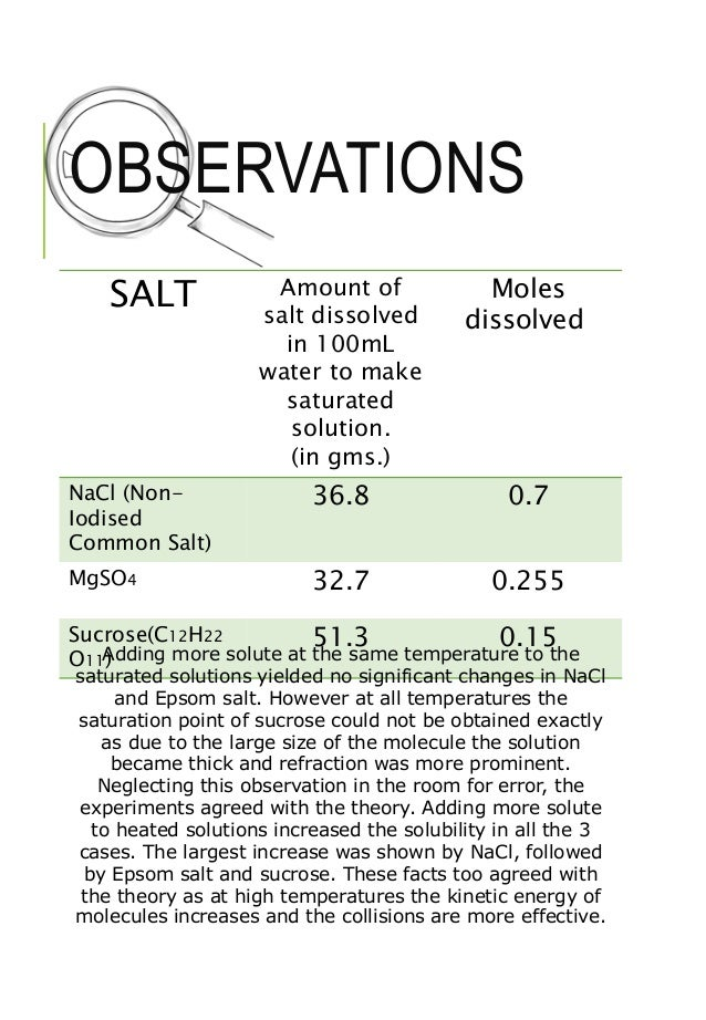 explain how to make a saturated salt water solution