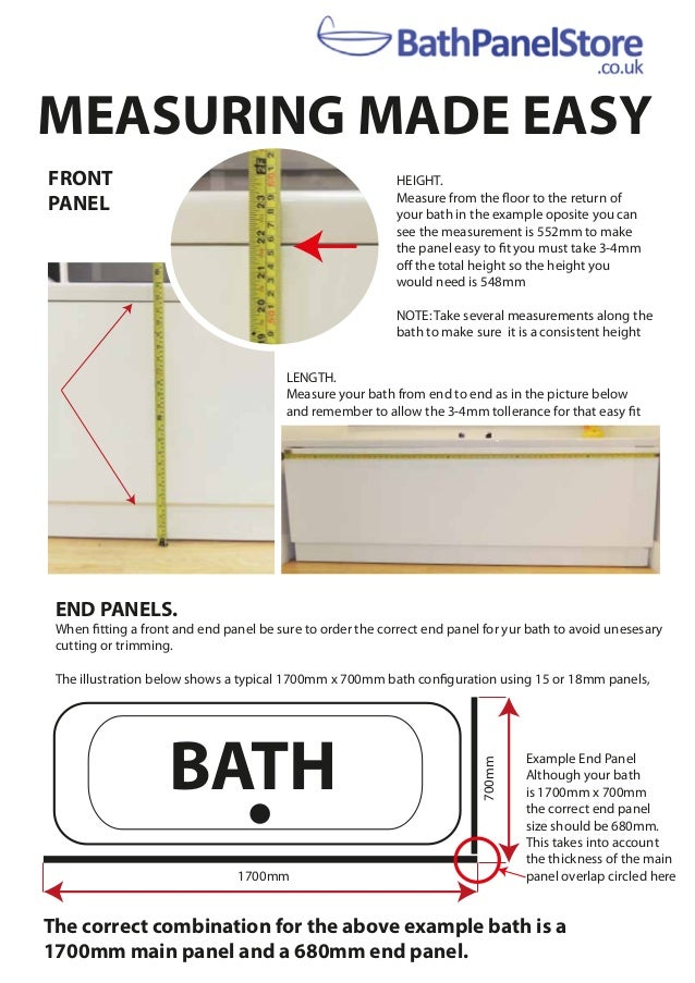 5ca29be86a6 2017 guide about How to Measure for a new bath panel