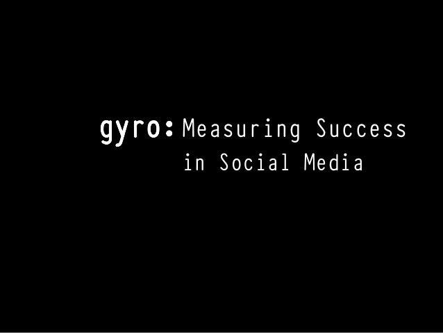 Measuring Successin Social Media