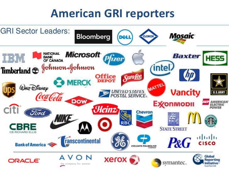 American GRI reportersGRI Sector Leaders:
