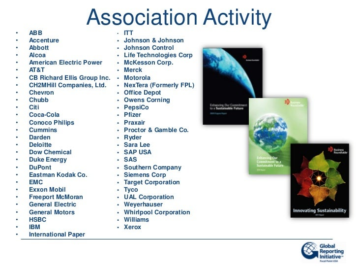 •   ABB                      Association Activity                                  •   ITT•   Accenture                   ...